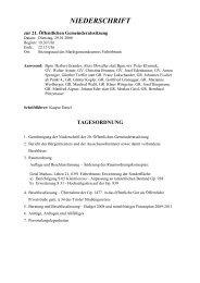 NIEDERSCHRIFT - Fieberbrunn - Land Tirol