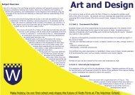 Art and Design - Warriner School