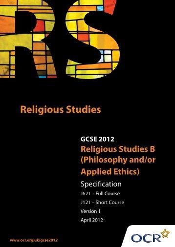 GCSE Philosophy & Ethics Specification - Warriner School
