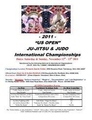 """- 2011 - """"US OPEN"""" JU-JITSU & JUDO International Championships"""