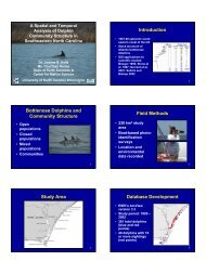 Introduction Bottlenose Dolphins and Community Structure Field ...