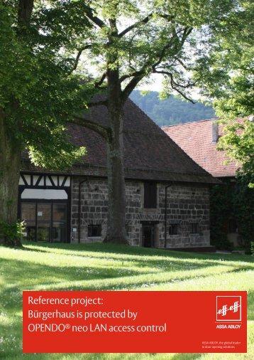 Bürgerhaus Schloss-Scheuer - Assa Abloy