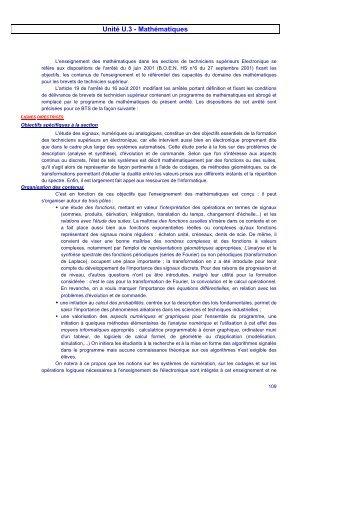 1.1) Programme BTS SE (2 pages) - College Fonctions usuelles