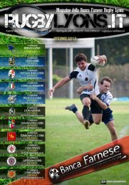 Ottobre 2012 - Rugby Lyons Piacenza