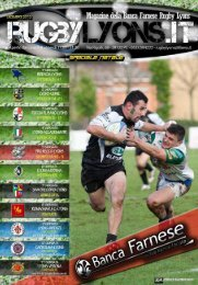 Dicembre 2012 Speciale Natale - Rugby Lyons Piacenza