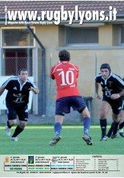 Novembre 2009 - Rugby Lyons Piacenza