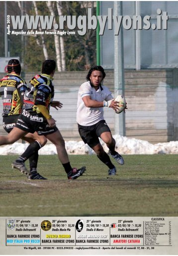 Aprile 2010 - Rugby Lyons