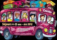 Séjours 4-25 ans - été 2012 - Cousins