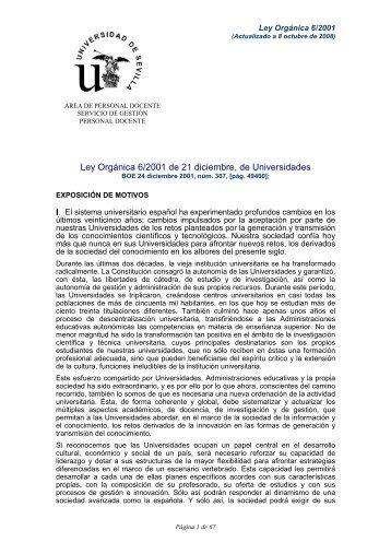 Ley 6 2001 a 8 10 2008 pp.pdf - Vicerrectorado de Profesorado
