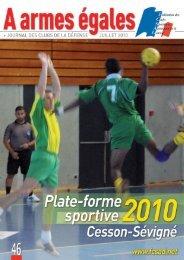 Plate-forme sportive 2010 Cesson-Sévigné - La fédération des ...