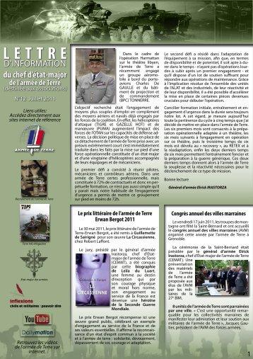 lettre info CEMAT n°12 - La fédération des Clubs de la Défense