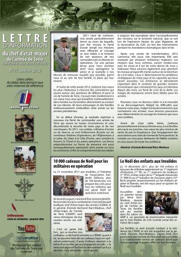 lettre info CEMAT n°15 - La fédération des Clubs de la Défense