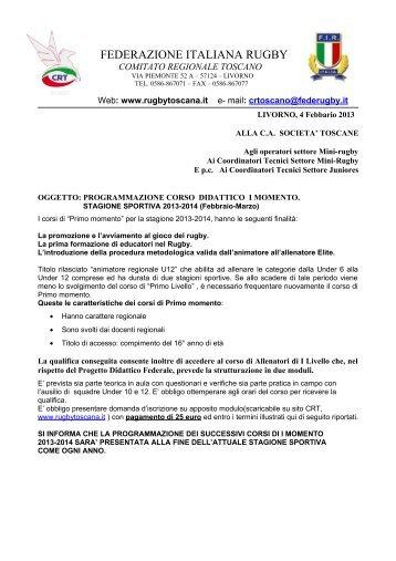 FEDERAZIONE ITALIANA RUGBY - Comitato Regionale Toscano ...