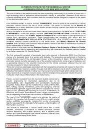3D FIBROIN TEXTILES FOR THE BIOMEDICAL SECTOR: A ... - Acimit