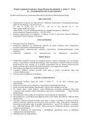Regulamin konkursu - Powiat Goleniowski