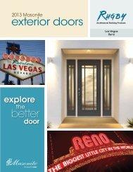 Exterior Steel & Fiberglass Doors by Masonite - Rugby