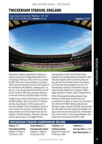 Twickenham Stadium - Rugby Unplugged