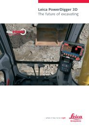 Leica PowerDigger 3D The future of excavating - Leica Geosystems