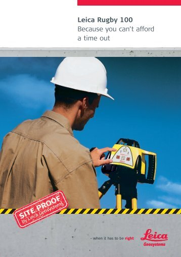 Rugby 100 Brochure - Leica Geosystems