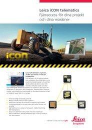 Leica iCON telematics Fjärraccess för dina projekt ... - Scanlaser.info