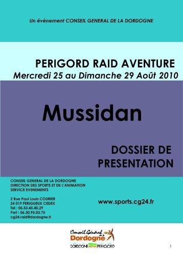 Dossier de présentation - Sports CG24 - Conseil général de la ...