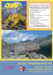 Spittaler Bergsteigerblatt 167 März 2012 - Alpenverein Spittal/Drau