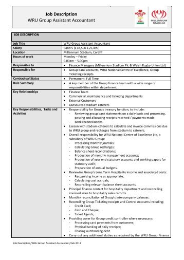Assistant Accountant Job Description Template 78