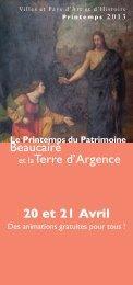 Beaucaire et laTerre d'Argence 20 et 21 Avril