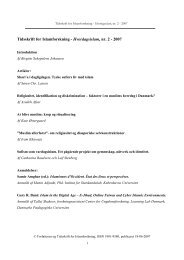 Tidsskrift for Islamforskning - Hverdagsislam, nr. 2 - 2007