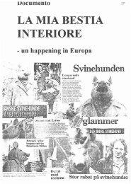 LA MIA BESTIA INTERIORE - un happening in Europa - AIDOH