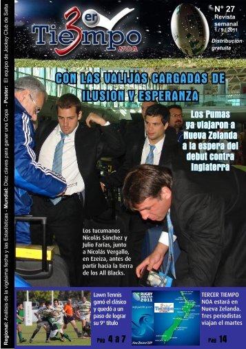 TT Revista 2011 N27 - Tercer Tiempo NOA