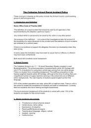 The Cottesloe School Racist Incident Policy