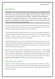 Open Space + Open Space som metode - Dansk Kommunikation