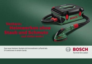 Heimwerken ohne Staub und Schmutz - Bosch