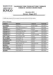 ROVIGO e BOARA Calendario turni continuativi ... - RovigoOggi.it