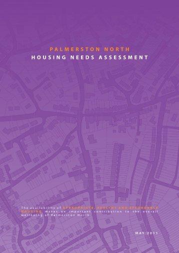 PALMERSTON NORTH HOUSING NEEDS ASSESSMENT