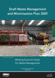 Draft Waste Minimisation Plan - Palmerston North City Council