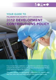 Development Contributions Guide to 2012 - Palmerston North City ...