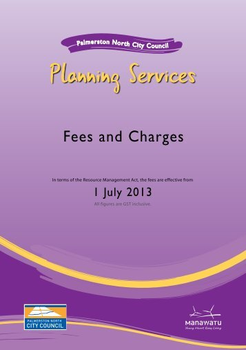 Fees and Charges - Palmerston North City Council