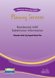 Residential Infill Subdivision - Palmerston North City Council