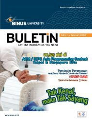 ULETIN - binus university