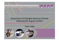 Assessment of Georgian Business Climate f ll i th A tC fli t following ...