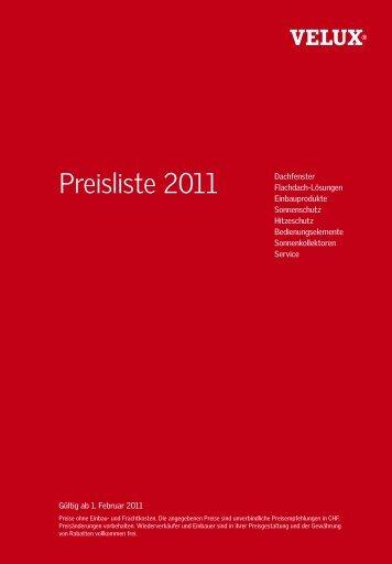 Preisliste 2011 - tschopp ag. basel