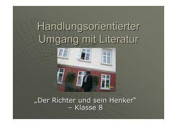 Handlungsorientierter Umgang mit Literatur - Kuppelnauschule