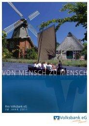 Geschäftsbericht 2011 - Volksbank eG Osterholz-Scharmbeck