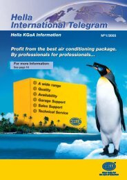 Profit from the best air conditioning package. By ... - Hella
