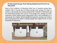 Professional Garage Door Spring Replacement Service