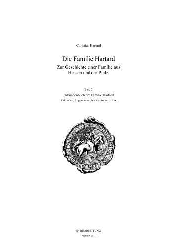 Urkundenbuch - die familie hartard