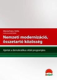 Nemzeti modernizáció, összetartó közösség - Policy Network