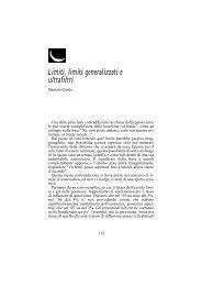 Limiti, limiti generalizzati e ultrafiltri. - Aperture-rivista.it